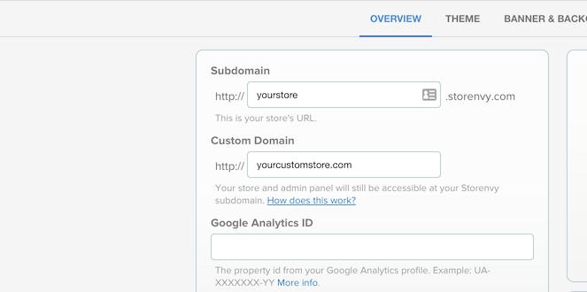 Screen custom domain 2