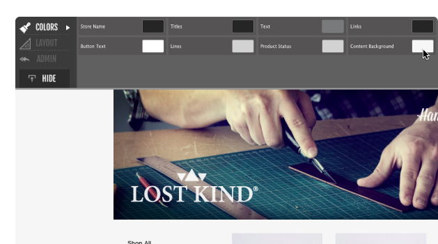 Screen customize technical skills